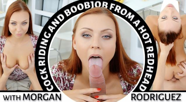 Vrporn.com- Cock Riding and Boobjob from a Hot Redhead