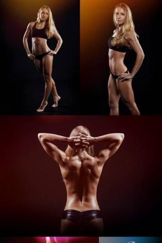 Muscular Fitness Woman Posing