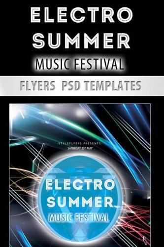 Electro Summer Music Festival PSD Template