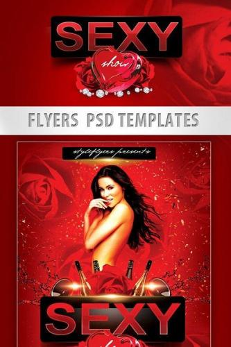 Sexy Show Party Flyer PSD Template