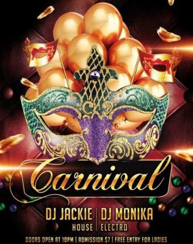Carnival PSD Flyer Template with Facebook Cover
