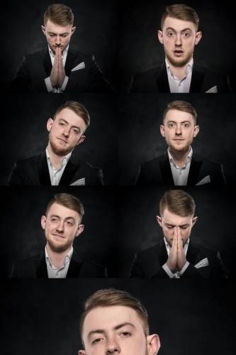 Portrait of a Businessman Over Dark Background