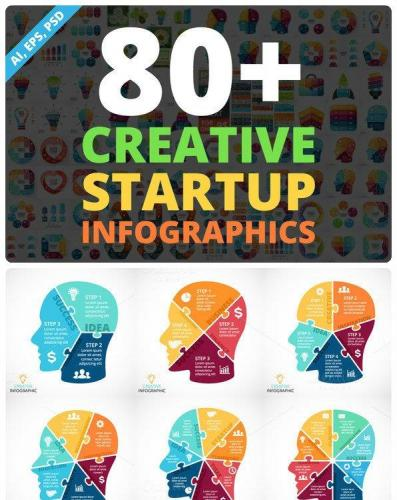 Creative Infographics PSD Included