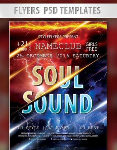 Soul Sound Flyer PSD Template