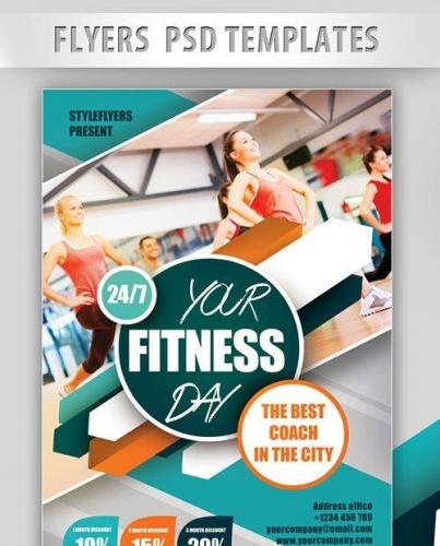 Your Fitness Day! Flyer PSD Template + Facebook Cover