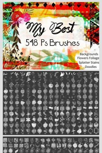 548 Photoshop Brushes Bundle CU