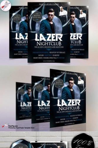 Lazer Nightclub Flyer Template