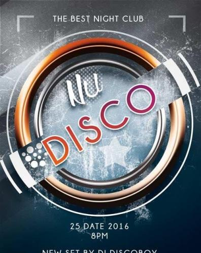 Nu Disco PREMIUM Flyer PSD Template