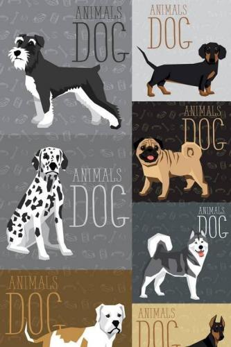 Vector Geometric Dogs Collection