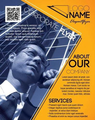 Corporate Flyer PSD Template + Facebook Cover