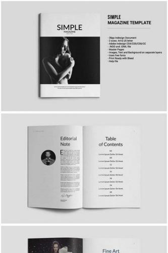 Simple Magazine Template 547368