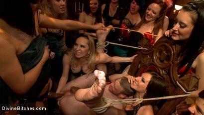 Kink.com- 40 women gangbang slaveboy for Bobbi Starr s birthday LIVE and PUBLIC!-Bobbi Starr, Aiden Starr, Jesse Carl, Maitresse Madeline Marlowe, Zak Tyler, Kimberly Kane, DJ
