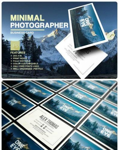 Minimal Photographer Business Card