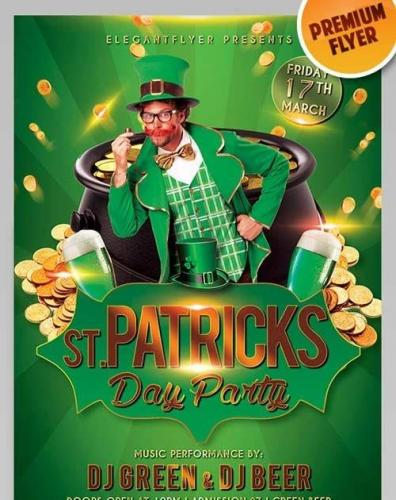 St. Patricks Day Flyer PSD Template