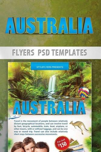 Australia Travel Free Flyer PSD