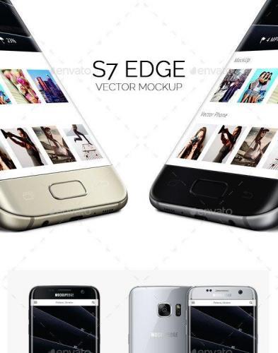 Galaxy Edge Vector Mockup