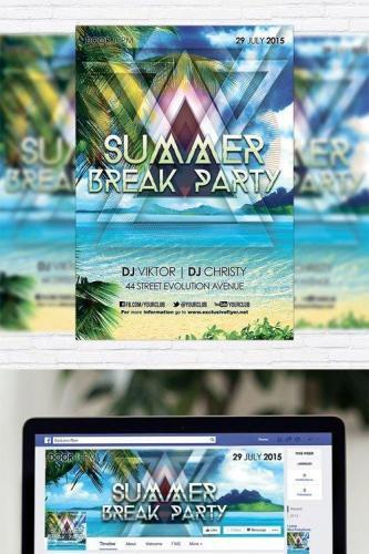Summer Break Party - Flyer Template