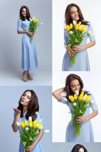 Beautiful Girl in the Blue Dress