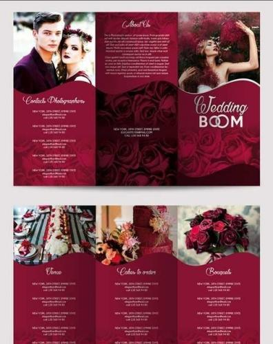 Wedding BOOM Tri-Fold Brochure