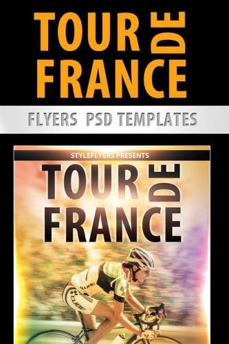 Tour de France Flyer PSD Template