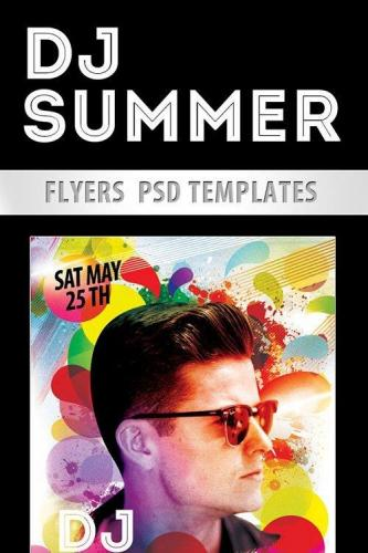 DJ Summer Flyer PSD Template