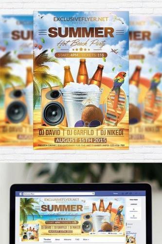 Summer Hot Beach Party - Flyer Template