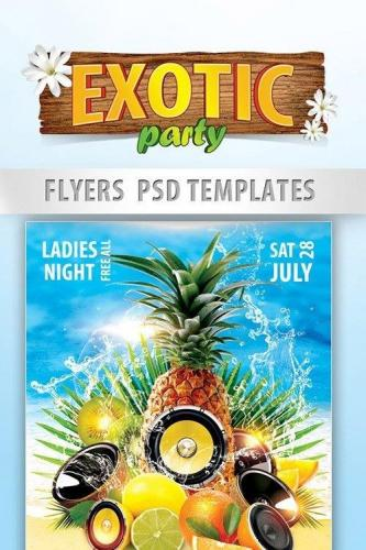 Exotic Party Flyer PSD Template