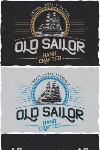 OldSailor vintage typeface