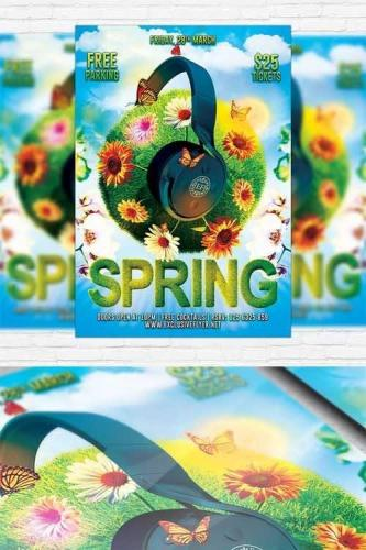 Spring Break Party - Flyer Template