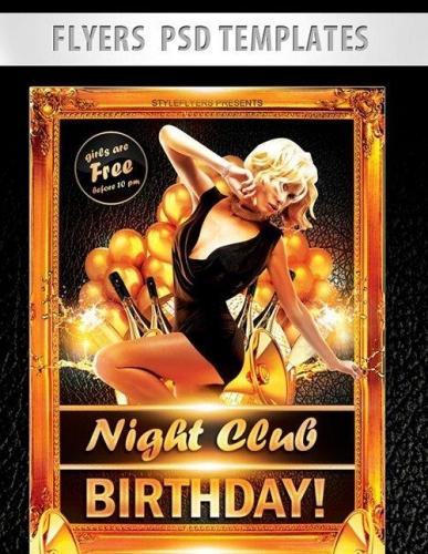 Night Club Birthday! Flyer PSD Template