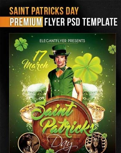 Saint Patricks Day Flyer PSD Template + Facebook Cover
