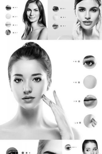 Woman Skin Problem Concept
