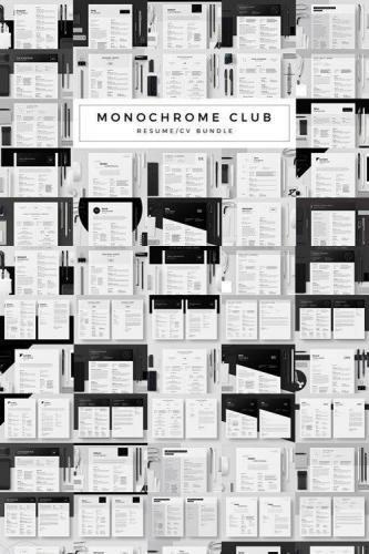 Monochrome Club - Resume-CV Bundle