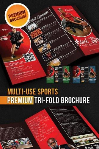Multi-use Sports Tri-Fold Brochure
