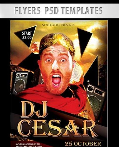 DJ Cesar Flyer PSD Template