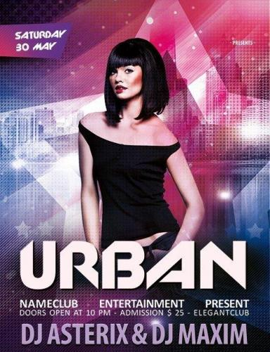 Urban party Flyer PSD Template