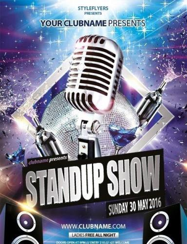 Stand up show Flyer PSD Template