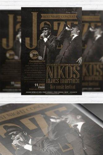 Jazz Festival - Flyer Template + Facebook Cover