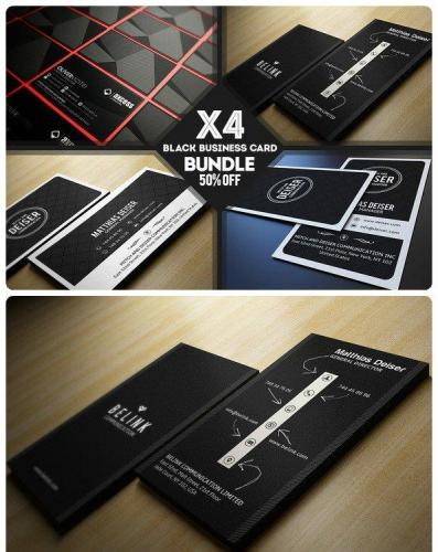 Black Business Card Bundle