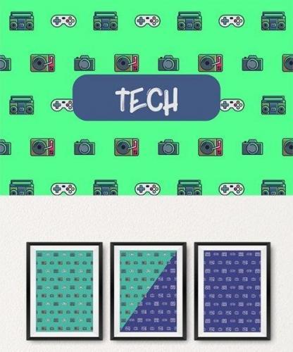 Tech icon pattern