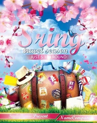 Sring Travel Season PSD