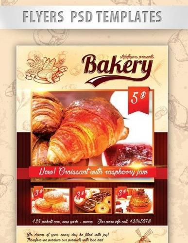 Bakery Flyer PSD Template