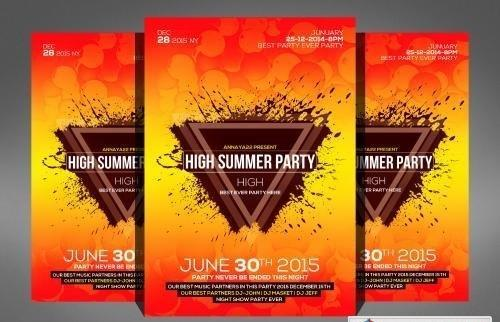 Summer Splash Cocktails Party Flyer