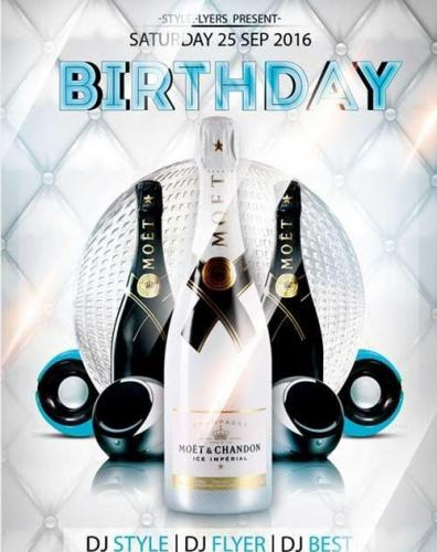 Birthday V5 Flyer PSD Template