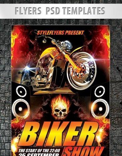 Biker Show Flyer PSD Template