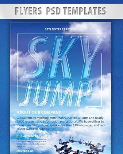 Sky Jump PSD Flyer PSD Template
