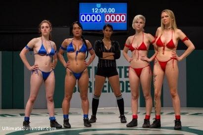 Kink.com- RD 1: Team Blue VS. Team Red!Brutal unscripted tag team wrestling! Sexual wrestling at it_s best