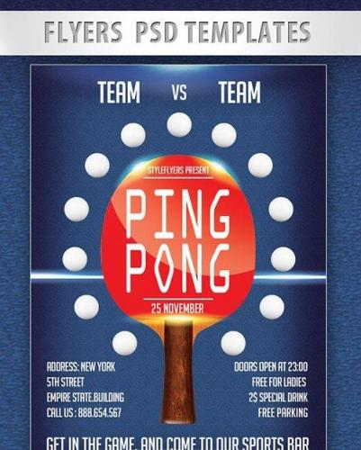 Ping Pong Flyer PSD Template