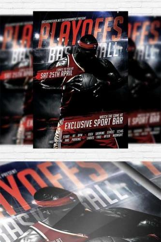 Playoff Basketball - Flyer Template