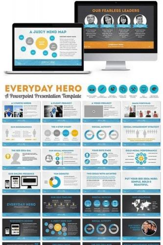 Everyday Hero Powerpoint HD Template